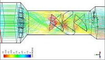 CFD stream lines (Flowte-B)