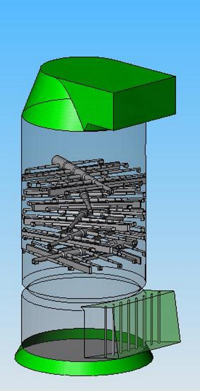 CAD model of the scrubber