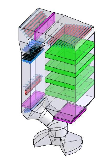 CAD model of the SCR facility