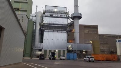SCR unit as part of the cement plant