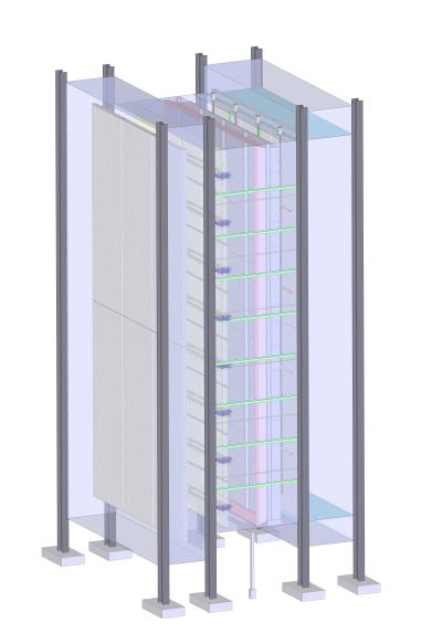 CAD model of the AIG inside the CCGT facility