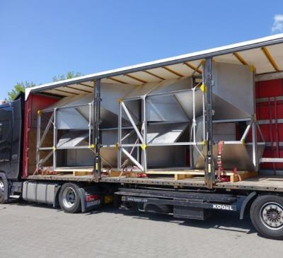 Large-scale, high gas temperature static mixer ready to be delivered (Flowte-C)