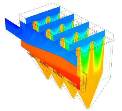 Fabric filter (CFD plot)