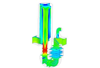 Flow distribution inside the bicarbonate reactor
