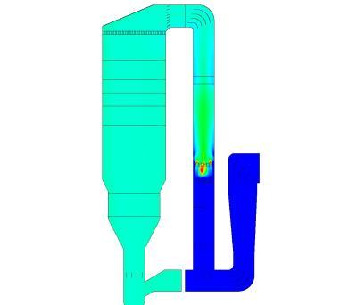 DeNOx SCR-unit (CFD plot)