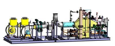 Ammonia evaporation and control skid (CAD model)