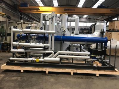 Ammonia evaporation and control skid