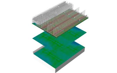 CFD simulation of the SCR unit (NH3/NOx)