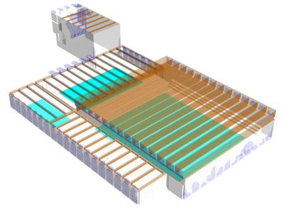 CFD model of the swimming hall